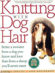 "Quote on the cover:  ""Stop vacuuming and start knitting!"""