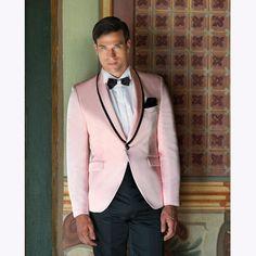 Pink Tuxedo jacket Wedding Suits Slim Fit Custom Made 2 Piece Prom Men Suit Groom Wear Men Blazer (Jacket+Pants) Tuxedo Wedding, Wedding Suits, Trendy Wedding, Wedding Parties, Wedding Ideas, Tuxedo Jacket, Pink Jacket, Suit Jacket, Groom Wear