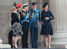 The unborn addition to the Royal family appeared to make his presence felt on the steps of St Paul's