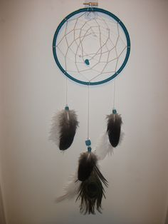 Turquoise dreamcatcher (By my talented daughter, Amanda Collingwood.