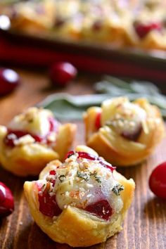 Chicken Cranberry Brie Tartlets are a quick appetizer that combine all the best flavors of the season in one delicious little bite. Perfect for all your parties
