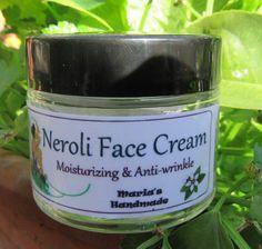 Face Cream with Neroli Neroli Essential Oil, Essential Oils For Face, Homemade Essential Oils, Facial Skin Care, Natural Skin Care, Wrinkle Creams, Face Creams, Anti Wrinkle, Moisturizer