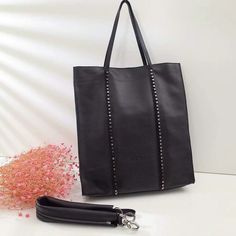 2017 New Givenchy Studded Tote Bag in Black Grain Leather Givenchy Clutch  Bag e3defb8bb1762