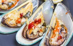 Download wallpapers oysters, mussels, seafood, fish dishes, delicacies