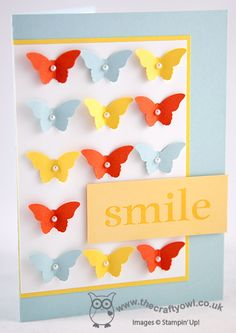 Smile - It's Your Birthday! Bitty Butterfly Punch, Happy Day Joanne James UK Independent Stampin' Up! Demonstrator, blog.thecraftyowl.co.uk