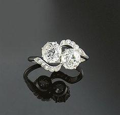 2 stone ring setting | stone engagement ring