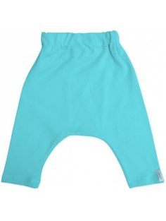 Pantalon sarouel interlock de coton bio bleu éazur