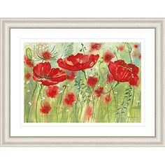 Buy Catherine Stephenson - Red Poppy Maze Framed Print, 90.5 x 70.5cm Online at johnlewis.com