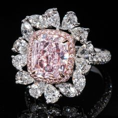 @leonproduction Pink Jewelry, Diamond Jewelry, Gemstone Jewelry, Pink Diamond Ring, Diamond Gemstone, Top Engagement Rings, Or Antique, Colored Diamonds, Beautiful Rings