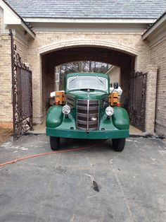 1948 Mack helping rebuild the house after the fire it was great having a good old truck to pick up parts with