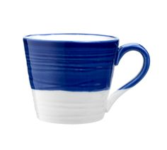 A contemporary take on the sort of rustic, handmade mugs you'd find in a Santorini café, dipped in a sea-blue glaze. Priced at £4.