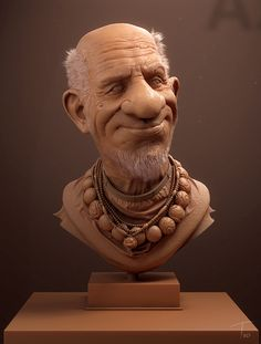 Old man by Kevin Beckers | Caricature | 3D | CGSociety