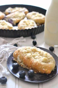 Blueberry Cheesecake Crescent Rolls