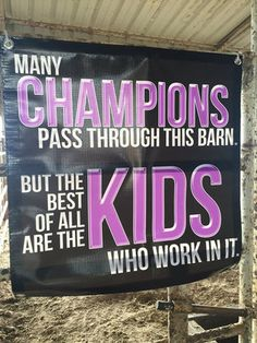 Champion Kids Motivational Barn Banner - Stock Show Sweethearts - Order here… Livestock Judging, Livestock Farming, Showing Livestock, Show Cows, Farm Show, Cattle Barn, Show Cattle, 4 H, Show Steers