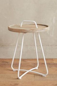 Threaded Button Side Table