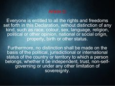 Basic Human Rights - Article 2 Human Rights Articles, Freedom, Religion, Language, Politics, Liberty, Political Freedom, Languages, Language Arts