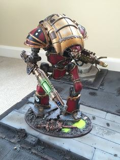 When Ad Mechmarches to war they mostly always try to bring titans,mostly! Checkout the new KnightAtrapos from Forge World.