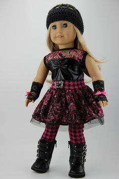 American Girl doll clothes 3 piece punk by DolliciousClothes