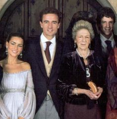 Princess Alessandra Torlonia de Borbón with son Count Alessandro Lequio di Assaba, his wife Maria Palacios, and last son Alessandro Lequio di Assaba