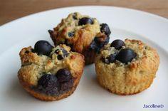 Gezond leven van Jacoline: Muffins van amandelmeel en bosbessen - Blueberry muffins #lowcarb #muffin