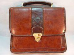 Nice Rina Rich Leather Crossbody Organizer Purse Handbag Briefcase Shoulder Bag #RinaRich #ShoulderBag