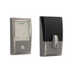Schlage Encode Satin Nickel Single-cylinder Deadbolt Lighted Keypad at Lowe's. Schlage Encode Smart WiFi Deadbolt offers peace of mind from anywhere by allowing you to remotely manage your lock via the Schlage Home app or Key by Electronic Deadbolt, Deadbolt Lock, Door Lock Types, Best Smart Home, Smart Door Locks, Smart Home Security, Home Automation System, Satin, Works With Alexa