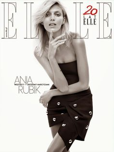 Anja Rubik ELLE Poland April 2014