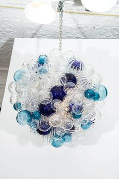 Large Glass Bubble Chandelier   From a unique collection of antique and modern chandeliers and pendants  at http://www.1stdibs.com/furniture/lighting/chandeliers-pendant-lights/