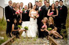 Lovely Indian bridal party. Image courtesy of Kumari Photo + Cinema. Discover more Indian Bridal Party inspiration at www.shaadibelles.com #weddings #southasian #shaadibelles #bridemaids Indian Bridal Party, Punjabi Wedding, Cinema, Weddings, Image, Inspiration, Biblical Inspiration, Movies, Wedding