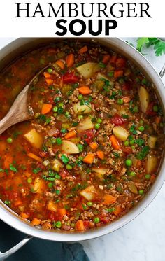 Hamburger Soup - loaded with flavorful lean ground beef, hearty vegetables like potatoes and carrots, and full of rich flavor. Hamburger Soup - Cooking Classy Jodi Koehler sedonarain soups Hamburger Soup - loaded with flavorful lean ground beef, he Soup Recipes, Dinner Recipes, Cooking Recipes, Healthy Recipes, Healthy Cooking, Fish Recipes, Drink Recipes, Healthy Eats, One Pot Dinners
