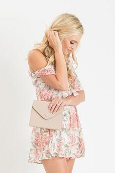 Isabelle Pink Floral Cold Shoulder Romper