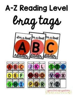 A-Z Reading Level Brag Tags