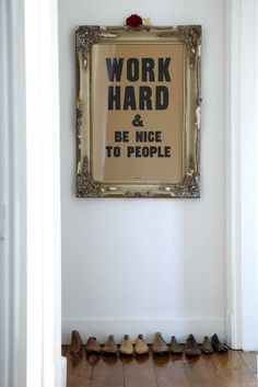I think the idea of having a couple of my favourite inspiring quotes framed among the photos would be nice as well.