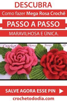 Wonderful Crochet a Puff Flower Ideas Diy Crafts Knitting, Diy Crafts Crochet, Diy And Crafts Sewing, Crochet Cactus, Love Crochet, Crochet Yarn, Hand Embroidery Tutorial, Embroidery Flowers Pattern, Crochet Dog Patterns
