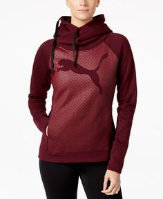 Add cat-sleek style to your workout or weekend routine with this Puma hoodie, featuring a fold-over hood for a fresh look in classic comfort.   Cotton/polyester   Machine washable   Imported   Attache