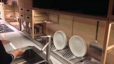 Salone del Mobile 2014 - Milan Italy Kitchen Sinks, Open Kitchen, Kitchen Island, Hidden Desk, Hidden Storage, Kitchen Designs, Kitchen Ideas, Dish Drainers, Milan Italy