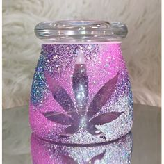 Pink Galaxy Leaf Stash Jar | Marijuana Accessories | Weed Jar | Stoner gifts by StrawberryCoughs on Etsy https://www.etsy.com/listing/481340158/pink-galaxy-leaf-stash-jar-marijuana