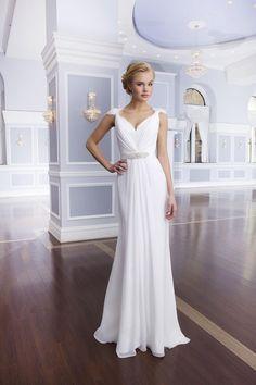 Column wedding dress from Lillian West