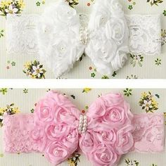 Sale 18% (2.99$) - Baby Headband Cute Baby Girl Kid Infant Flower Pearl Lace Hairdress
