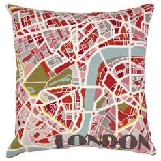 www.hannahbass.com Contemporary London city map tapestry kit