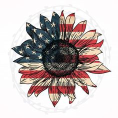 Items similar to Patriotic American Flag Sunflower Design Transfer on Etsy Sunflower Art, Sunflower Design, Short Friendship Quotes, Hot Dog Bar, Flag Painting, July Crafts, Patriotic Crafts, Patriotic Party, Sunflower Wallpaper