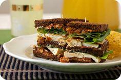 Vegan Turkey Club Sandwiches -