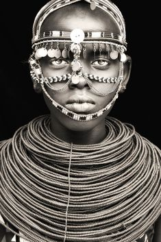 African Portraits by Mario Gerth samburu girl in a ceremony / northern kenya African Tribes, African Art, We Are The World, People Around The World, African Beauty, African Fashion, Tribal Fashion, Man Fashion, Black Is Beautiful