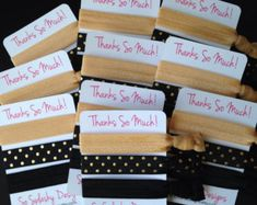 Party favors, hair ties, jewelry and accessories by SoSplashyDesigns Bridal Shower Favors, Wedding Favors, Wedding Ideas, Teen Party Favors, Bachelorette Favors, Elastic Hair Ties, Bridesmaid Gifts, Etsy Seller, Gift Wrapping