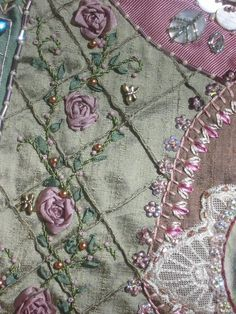 crazy quilting . . . by Betty Pillsbury   ~Embroidery~
