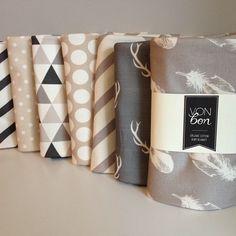 #vonbon #handmade #organic Collection of organic cotton swaddle blankets