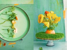 Grapefruit vase! Dietlind Wolf discovered in Lonny (she did both the styling and the photography--what a talent!)