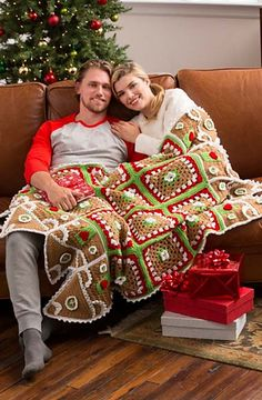 Ravelry: Gingerbread House Throw pattern by Michele Wilcox
