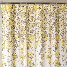 Shop for Lush Decor Weeping Flower Shower Curtain. Get free delivery On EVERYTHING* Overstock - Your Online Shower Curtains & Accessories Store! Yellow And Grey Curtains, Yellow Shower Curtains, Flower Shower Curtain, Shower Curtain Rods, Bathroom Shower Curtains, Yellow Bathroom Decor, Yellow Bathrooms, Lush, Small Bathroom