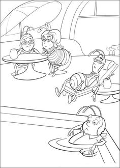 Coloring Pages For Kids All Your Favorite Cartoon Stars Are Here Mlarbilder Bee Movie 13